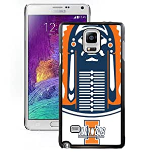 Fashionable And Unique Custom Designed With Ncaa Big Ten Conference Football Illinois Fighting Illini 2 Protective Cell Phone Hardshell Cover Case For Samsung Galaxy Note 4 N910A N910T N910P N910V N910R4 Black