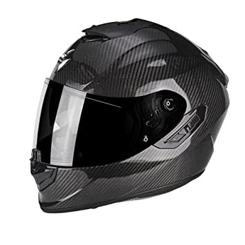 Scorpion Moto Casco Exo 1400 Air Carbon Solid, color negro, tamaño XL