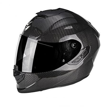 tama/ño XL Scorpion Moto Casco Exo 1400/Air Carbon Solid color negro
