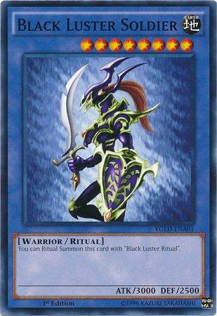 Yu-Gi-Oh! - Black Luster Soldier (YGLD-ENA01) - Yugi's Legendary Decks - 1st Edition - Common