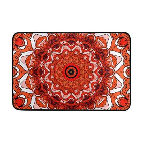 Sdfr4 Creative Commons Mandala Doormat,Area Rug Rugs Non-Slip Indoor Outdoor Floor Mat Doormats for Home Decor 26.3 x 15.7 inches for $<!--$15.99-->