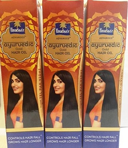 Parachute Advansed Ayurvedic Gold Hair Oil -200 ml (6.76 fl oz) X pack of 3