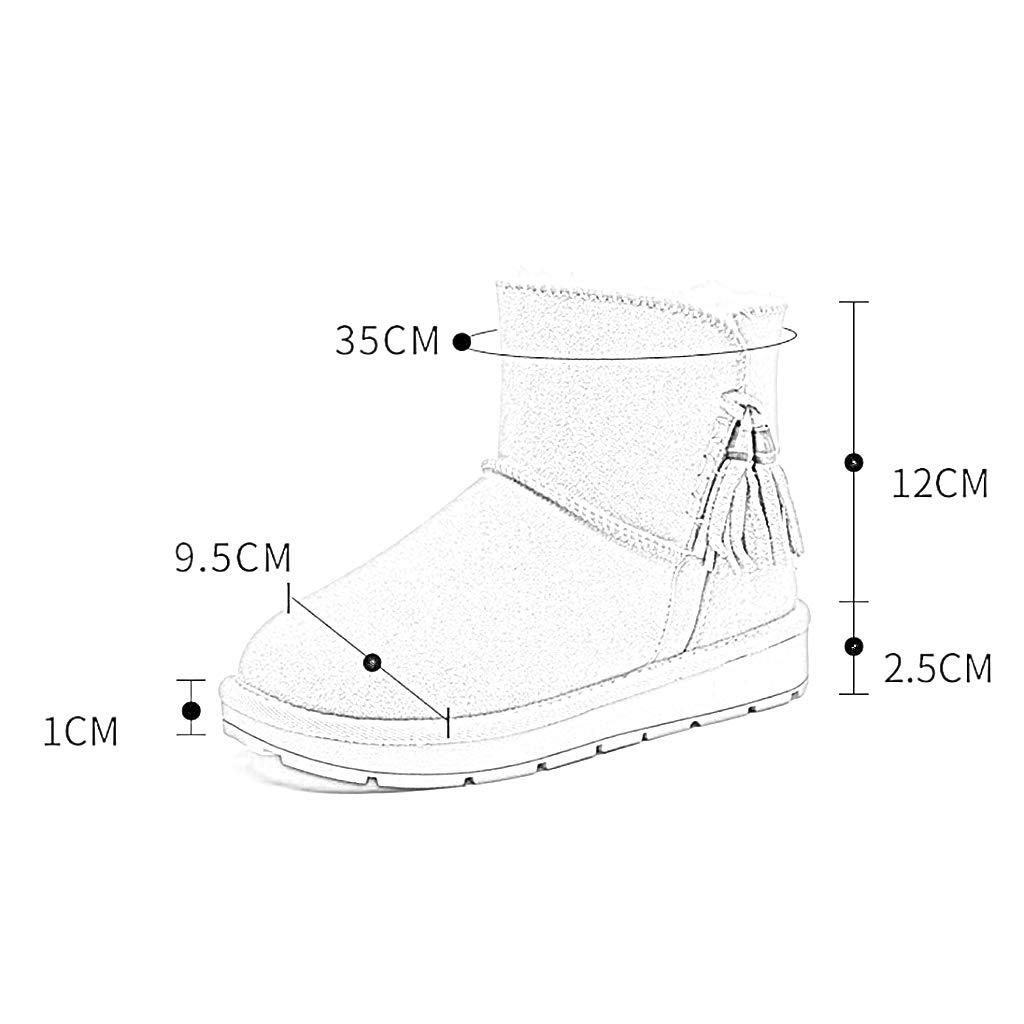 YUBIN Flach Flach Flach Mit Quaste Damen-Schnee-Stiefeln Runder Absatz Niedriger Absatz Kurze Stiefel Farbe Größe Optional (Farbe   SCHWARZ größe   EU 37 US 5 UK 4 JP 23.5cm) e50ae8