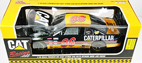 erpiller Limited Edition #96 David Green 1/18 Scale Premier Nascar Die Cast Stock Car with Opening Hood and Engine ()