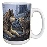 wolf coffee mug - Tree-Free Greetings 45914 Daniel Smith Wolf Brothers Ceramic Mug with Full-Sized Handle, 15-Ounce