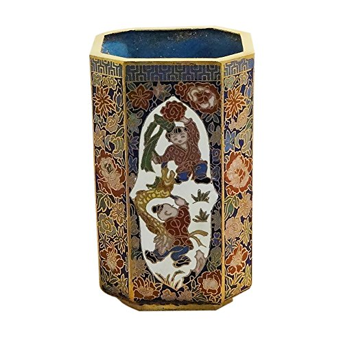 cloisonne-pencil-holder-blue-and-white-with-dragon-kite