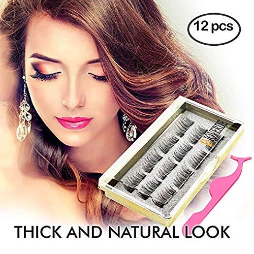 DIOVERDE 12 PCS Upgraded Magnetic Eyelashes, Ultra Thin And Reusable Magnetic Eyelashes, Great Magnetic Eyelashes For Beauty