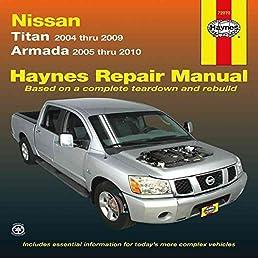 nissan titan armada service and repair manual 2004 to 2010 by rh amazon com 2007 Nissan Titan Repair Manual Nissan Titan Repair Manual PDF