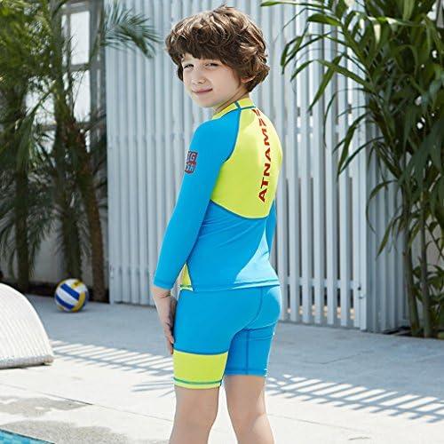 Bambino Piccolo Body Rashguard Spiaggia Surf Diving Canottaggio Ragazzi Ragazze Muta da Sub Costume da Bagno Bambini Due Pezzi Costumi da Bagno Manica Lunga Muta Protezione Solare UV 50