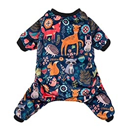 CuteBone Dog Pajamas Adorable Pet Clothes Jumpsuit Pjs Apparel Soft Fleece Cat Coat