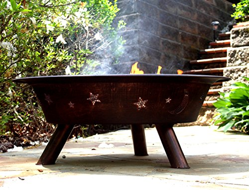 """Catalina Creations 29"""" Inch Round Wood Burning Patio Fire Pit 