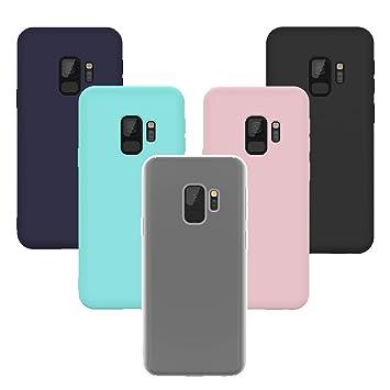 Yokata [5 Pack Funda Samsung Galaxy S9, Carcasa Silicona Gel Mate Case Ultra Fina Delgado TPU Goma Flexible Bumper Shock Protección Anti-Arañazos ...