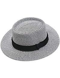 7c0b7b1ca09c73 Women UPF50+ Protection Wide Brim Straw Panama Bucket Fedora Beach Sun Hat