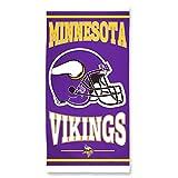 NFL Minnesota Vikings Fiber Beach Towel, 30 x 60-Inch