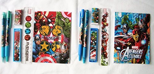 12 Sets of Marvel Heros Avengers Stationery Set Children Party Favors Bag Filler by Stationery Set