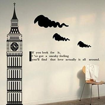 Amazoncom Dailinming Big Ben Tower Of London Clock Tower Wall - Wall decals clock