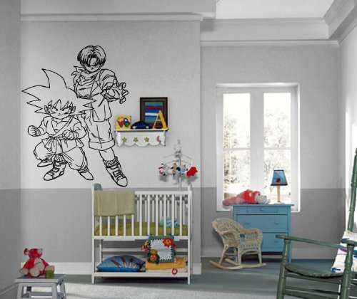 Cartoon Dragonball Z Action Manga Anime Decor Kids Room Design Wall Mural Vinyl Decal Sticker (Lexus Lambo Doors)