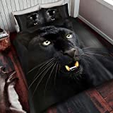 Black Panther King Size Duvet Cover and Pillowcase Set