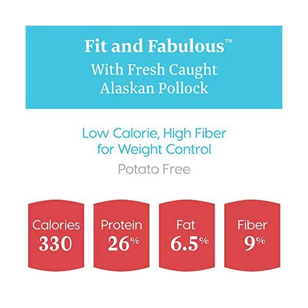 Solid Gold – Fit & Fabulous – Potato-Free Fresh Caught Wild Alaskan Pollock – Holistic Weight Control Adult Dry Dog Food – 24 lb Bag