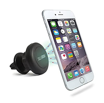 Vent Mount, TechMatte MagGrip 360 Air Vent Mount Magnetic Multi-Angle Universal Car Mount Holder for Smartphones including iPhone 6, 6S, Galaxy S6, S6 Edge - Black