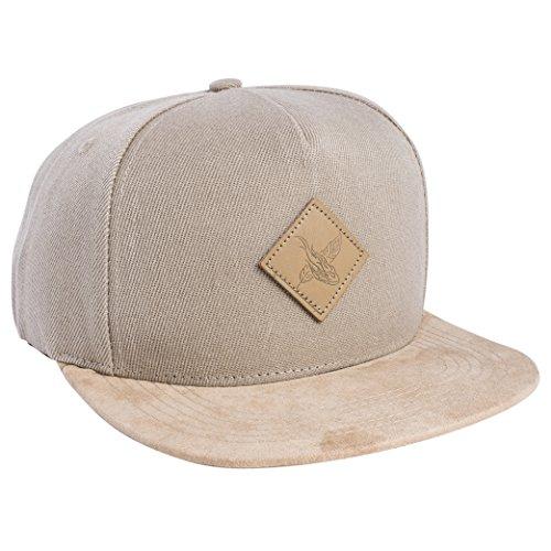 Blackskies Port Blair Snapback Hat | Men Women Premium Baseball Cap Dad 5-Panel Strapback Hip Hop Urban Suede Beige Tan