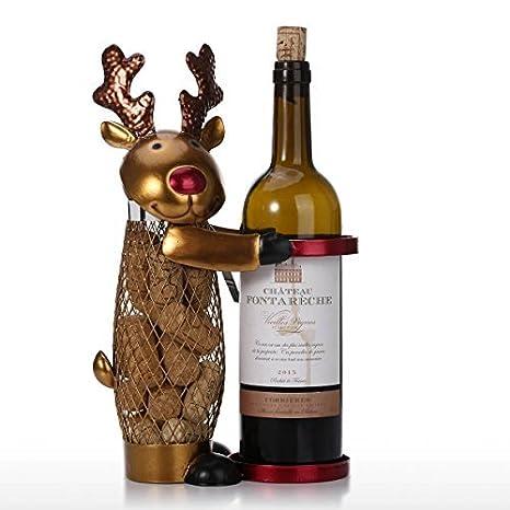 Mind Reader Metal Wine Cork Holder with Ornaments Bronze