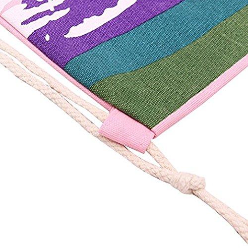 weimay lienzo mochila cord/ón impermeable mochila Drawstring Backpack saco gym Sack Bolsa de senderismo viaje