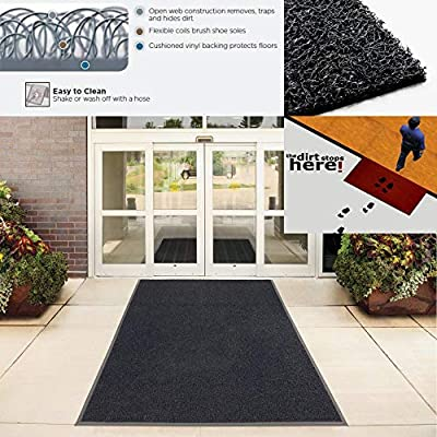 Half Moon Shape Floormat Washable Entryway Doormat Patio Doormat 75x45cm Floral Plants Doormat Rug