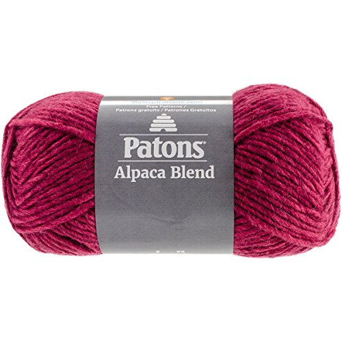Patons  Alpaca Blend Yarn - (5) Bulky Gauge  - 3.5oz -  Petunia -  Machine Washable  For Crochet, Knitting & Crafting