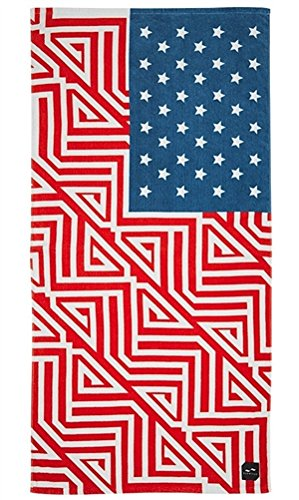 Slowtide Banner Beach Towel, Red/White/Blue, One Size