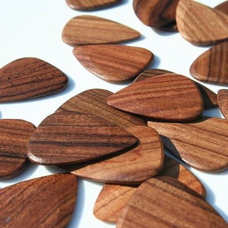 Tonos Santos para cama individual madera de púas para guitarra de madera de palisandro: Amazon.es: Instrumentos musicales