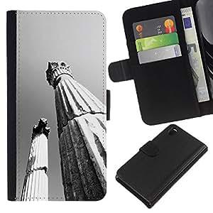 Ihec-Tech / Flip PU Cuero Cover Case para Sony Xperia Z3 D6603 / D6633 / D6643 / D6653 / D6616 - Architecture Ancient Rome Pillars