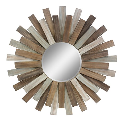 Stonebriar Large Round - rustic industrial glass mirrors