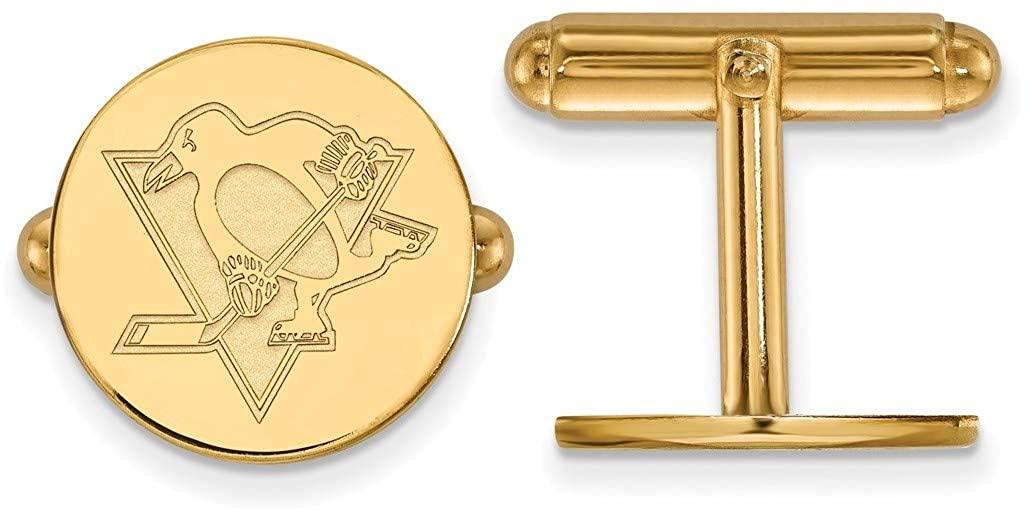 Gold-Plated Sterling Silver NHL Pittsburgh Penguins Cuff Links by LogoArt