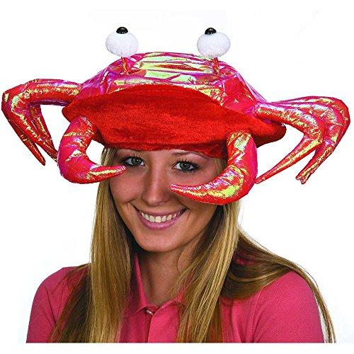 [Metallic Red Crab Hat] (Crab Costumes)