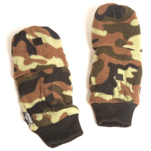 Accessoryo - Hommes Camo 40Gram Pro-Climat Thinsulate Gants De Mode Combo Mitaine En Taille Large / Extra Large