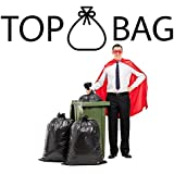 TopBag Trash Bags, 55 Gallon, 50 Count, Individually Folded, Easily Dispensed