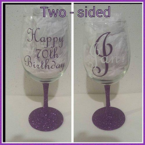 amazon com happy birthday personalized wine glasses birthday