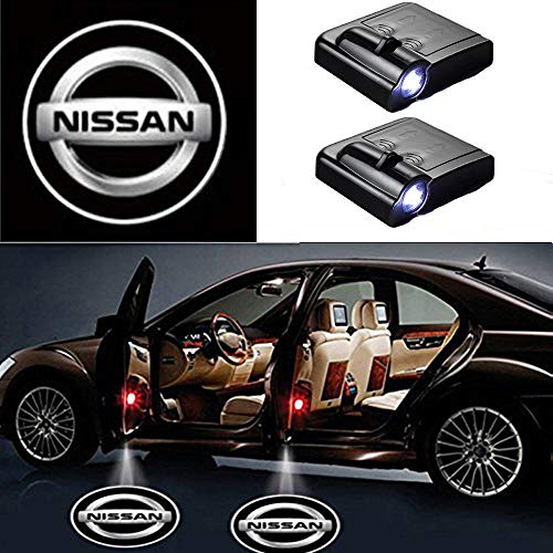 MIVISO Wireless Car Door Led Welcome Laser Projector Logo Light Ghost Shadow Light Lamp Logos 2 Piece
