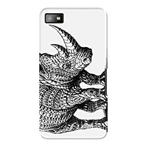 DailyObjects Rhinoceros Case For BlackBerry Z10 (Back Cover)