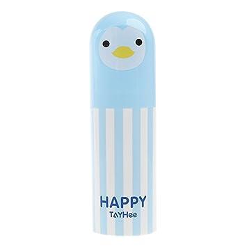 Soporte para cepillos de dientes, portátil, bonito dibujo animal, estuche de viaje sin BPA de plástico para niños Tamaño libre azul: Amazon.es: Hogar