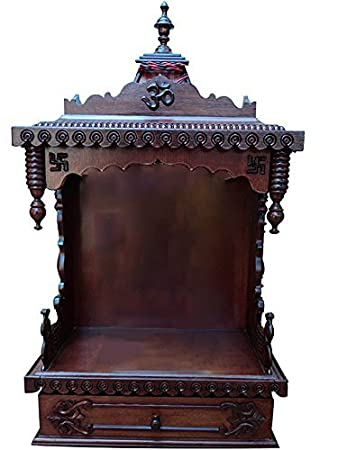 High Quality Buy Shilpi Handcrafted Wooden Home Temple / Wooden Temple / Pooja .