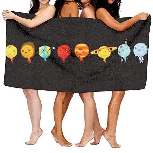 Solar System Unisex Fashion Towel Personalized Print Beach Towels by BHUIA