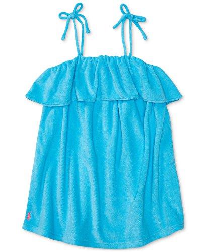 Ralph Lauren Girls Terry Cover Up in Blue (5)