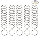 wotu 160 Pcs Silver Hair Rings, Braid Rings Hair Loop Clips Hair Rings