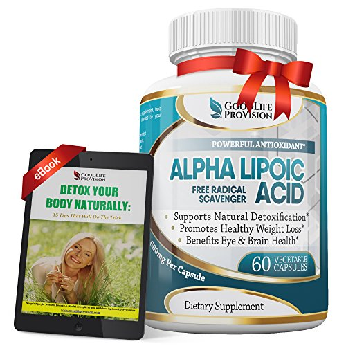 Alpha Lipoic Acid - Extra Strength 600mg Supplement - Best Pure Powder Complex Ala Vegetarian Capsules for Skin, Face, Eye and Brain Boost – Helps Sustain Natural Detoxification, 2 Month Supply by GoodlifeProvision