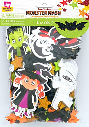 Creative Hands Sticker Bag Monster Mash Decorations (Halloween Craft Classroom Party)