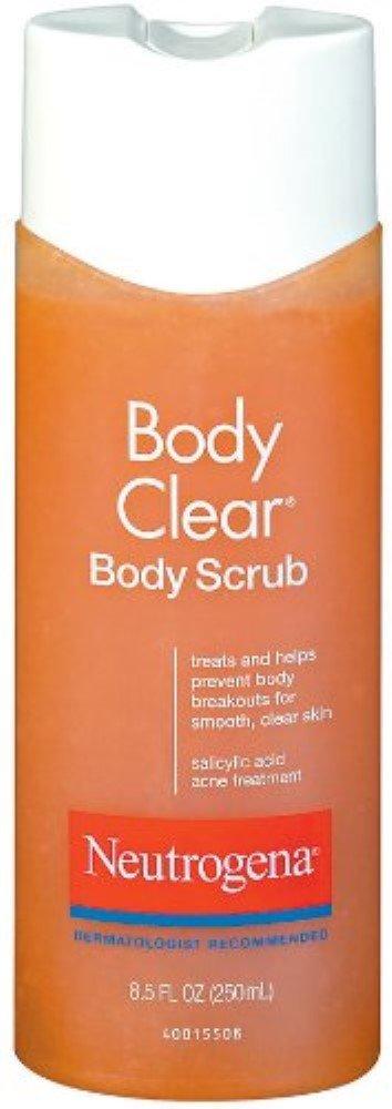 Neutrogena Body Clear Body Scrub 8.50 oz (5 Pack)