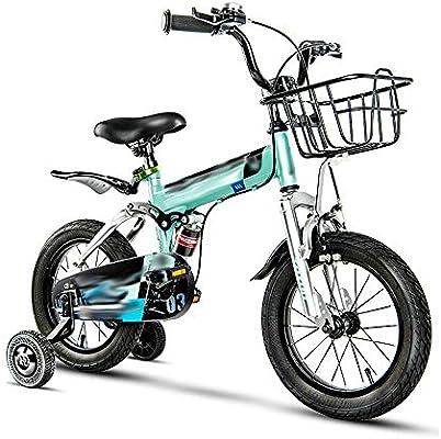 Axdwfd Infantiles Bicicletas Bicicleta for niños con Rueda de Entrenamiento, Bicicleta for niños de 3 a 13 años con Sistema de Choque (Size : 14in): Amazon.es: Deportes y aire libre