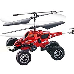 Qsmily Multi-function Rc Helicopter Multi-purpose Vehicles Fired Missiles Flying Car